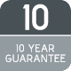 10 Year Guarantee Icon 80x80